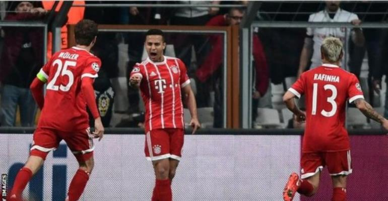 Bayern Thump Besiktas To Reach Champions League Last Eight