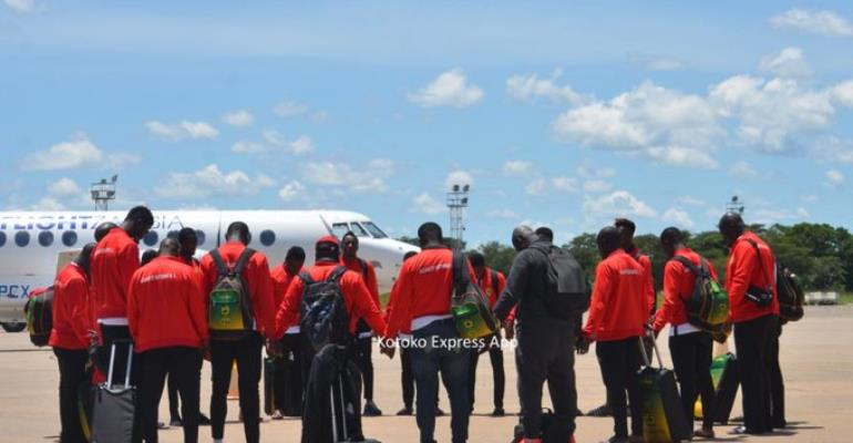CAF CC: Asante Kotoko Touch Down In Zambia For Zesco Clash