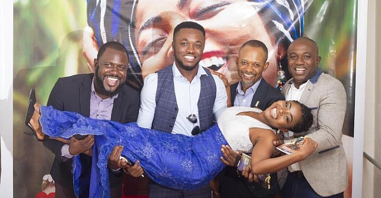Abigail Ashley in a memorable pose with staff of Despite Group