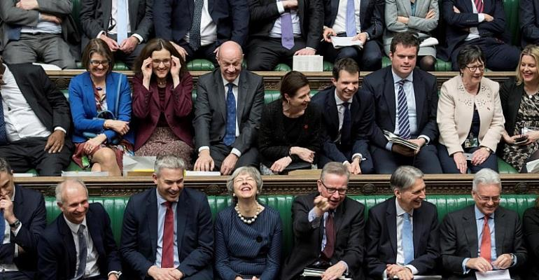 UK Parliament/Jessica Taylor/Handout via REUTERS