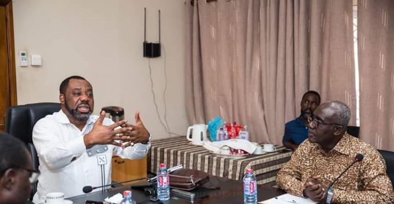 Mathew Opoku Prempeh(left)
