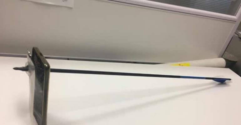 Hit By An Arrow, Mobile Phone Dies Saving Australian Man