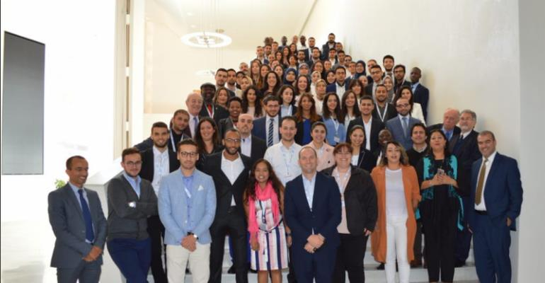The 2017 SAP Skills for Africa intake pictured today at orientation outside the Universite Mohammed VI Polytechnique