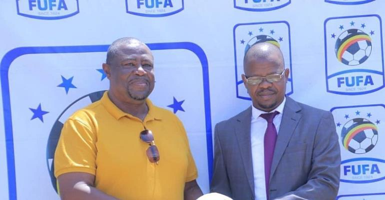 Paa Kwesi Fabin Being Unvieled At FUFA House