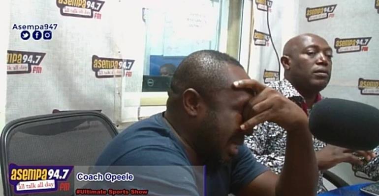 Ex-Ghana U17 Coach Opeele Breaks Down In Tears On Asempa FM Over 'Unexplained' Sacking