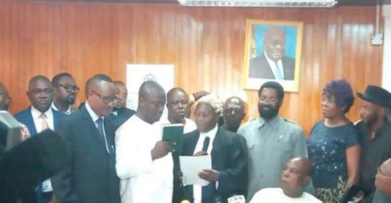 New Mayor being sworn in