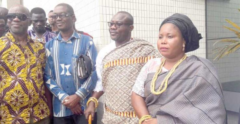 Togbi Patamia and some of the petitioners at the law court complex