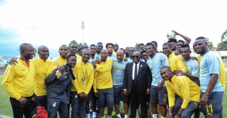 Prez. Akufo-Addo Charges Black Stars To Win AFCON 2019