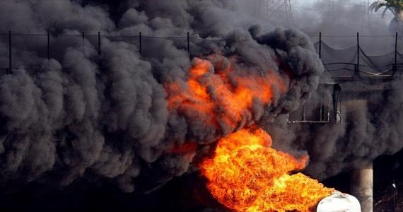 E/R: Three Injured As Fuel Tanker Catches Fire