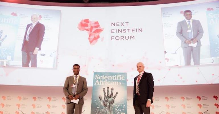 (L to R): Mr. Thierry Zomahoun, President and CEO of AIMS, And Founder And Chair of NEF and Ron Mobed, Elsevier CEO