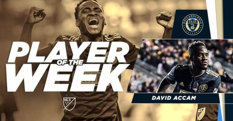 David Accam Voted MLS Player of the Week