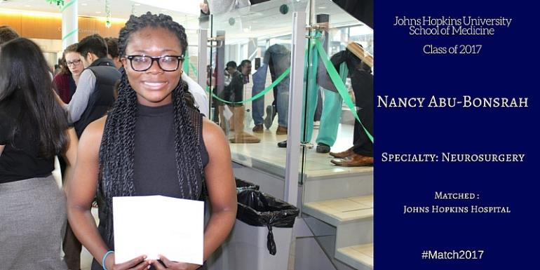 Dr Nancy Abu-Bonsrah: First black female neurosurgery resident at Johns Hopkins