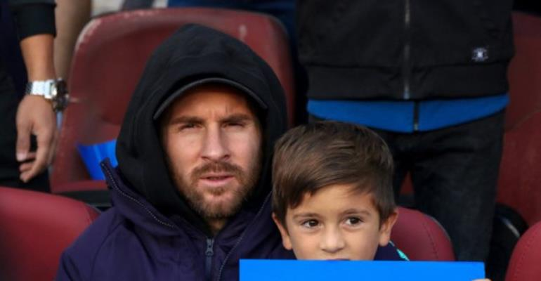 Messi with son Thiago