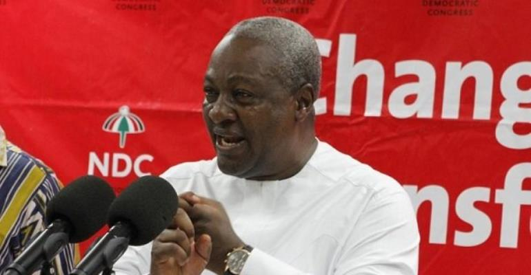 John Mahama is the NDC's flagbearer and will face President Akufo-Addo in the 2020 presidential elections.