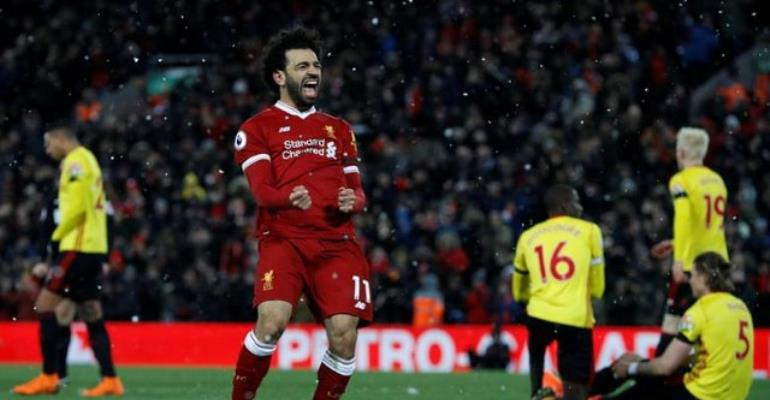 It's Salah again as Liverpool ride their luck to beat Palace