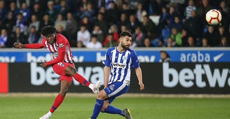 Watch Thomas Partey's Stunning Strike Against Deportivo Alaves