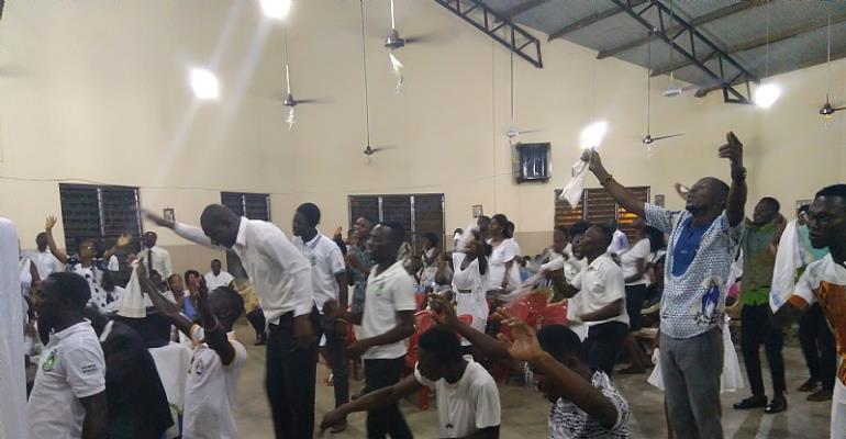 It was an awesome moment for the Catholic students of the St. Thomas Aquinas Catholic Church in the University for Development Studies, Nyankapala campus.