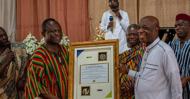 Dr. Thomas Mensah Honoured At Black Heritage Month