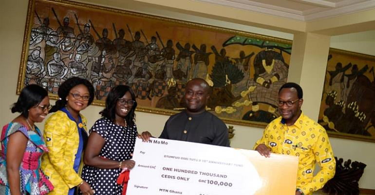 MTN Supports Otumfuo's 20th Anniversary