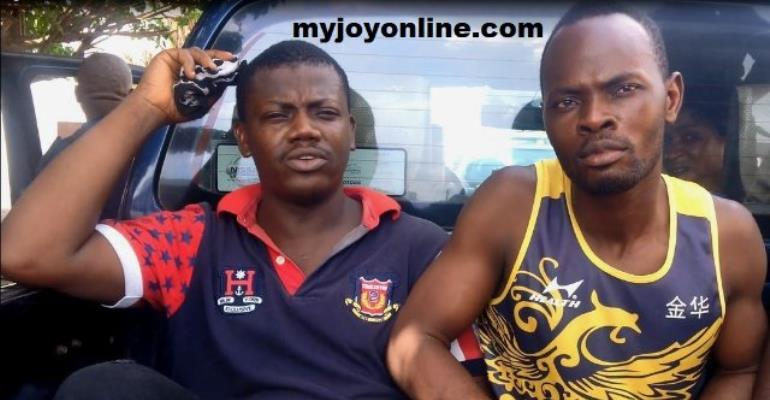 Charles Appiah (left) and Manasseh Fumey after their sentence.