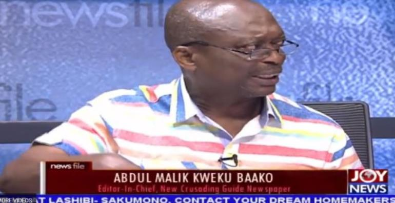 Abdul Malik Kweku Baako says Vice President Mahamudu Bawumi was right in his presentation.