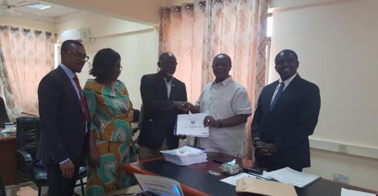 NaCCA Chairman, Prof. Kwame Osei-Kwarteng hands over 12-subject curricula to GES