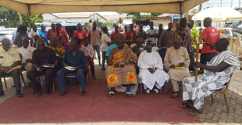 Chief and Residents of Adabraka-Garages at the Durbar