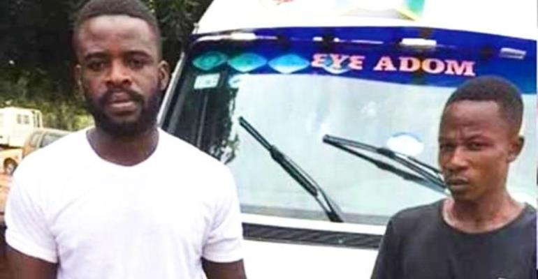 The driver and his mate were seen in a viral video fighting an officer