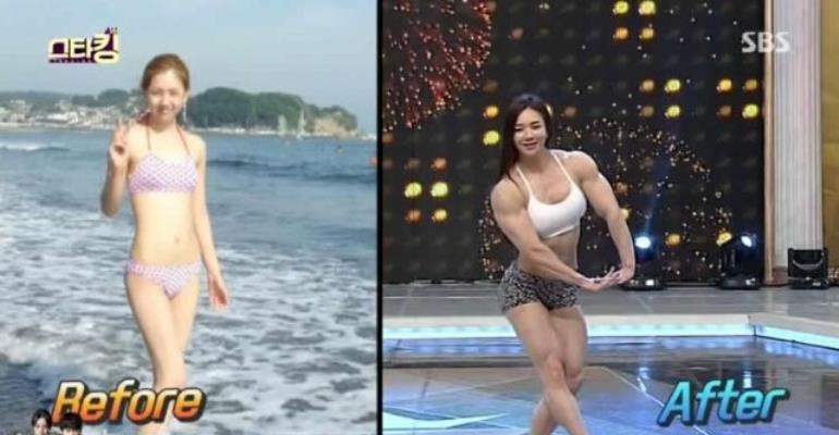 Meet South Korea's 'Muscle Barbie'