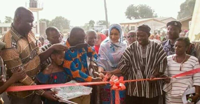 Second Lady Hajia Samira Bawumia (middle)