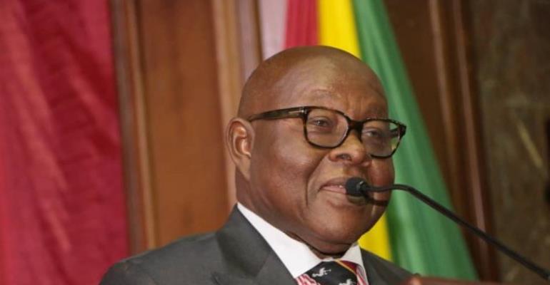 Speaker of Parliament, Professor Aaron Michael Oquaye