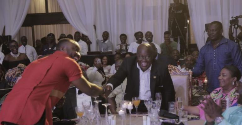 DKB and President Akufo-Addo at the MUSIGA Presidential Grand Ball