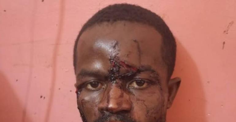 Daniel Mensah after his arrest