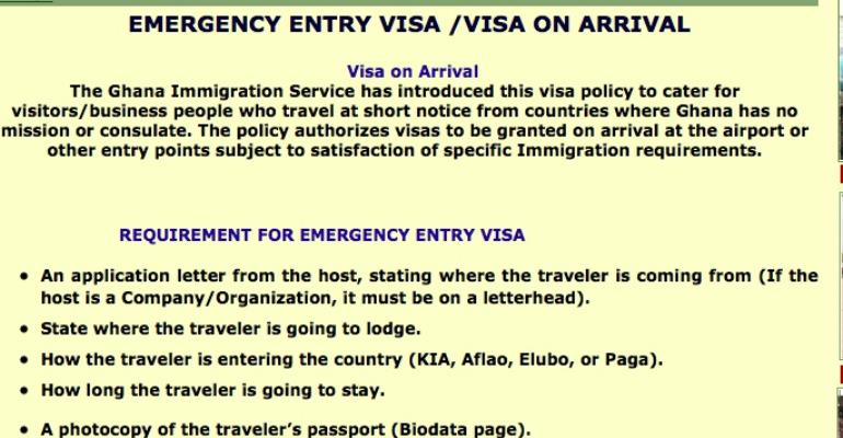 'Visa On Arrival', My Bitter Experience With The Ghana Immigration Service
