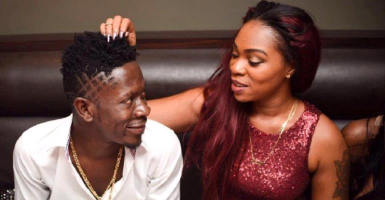 Just In: Shatta Wale Beats Shatta Michy; Leaves Her With Bruises (Sad Photo)