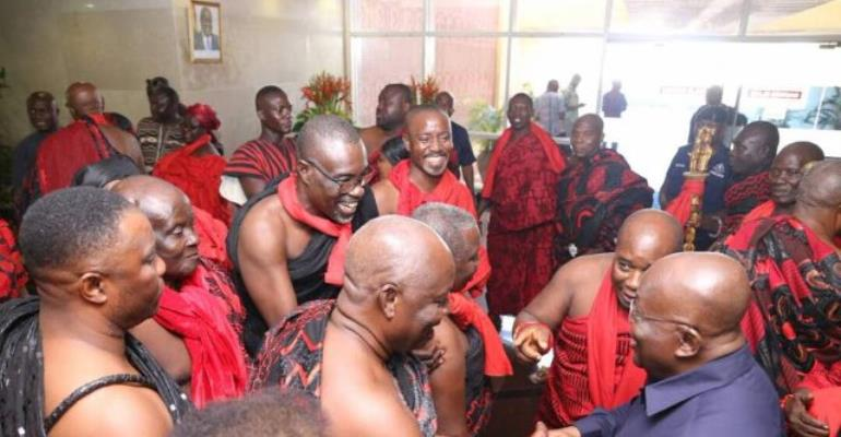 President Akufo Consoles Family Of Late James Town Chief