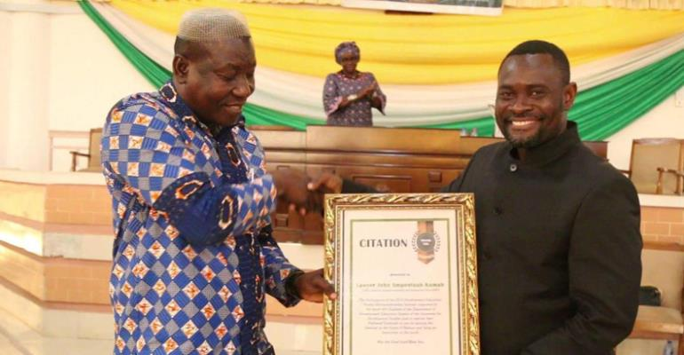 A Citation presented to Lawyer John Kumah at UDS