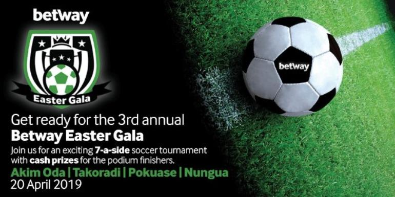 32 Teams Set For Betway Easter Gala 2019