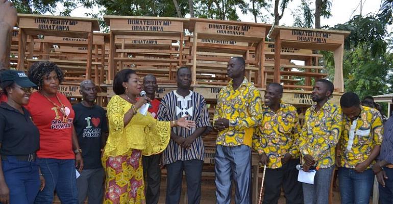 Agona East MP Donates 500 Dual Desks To School