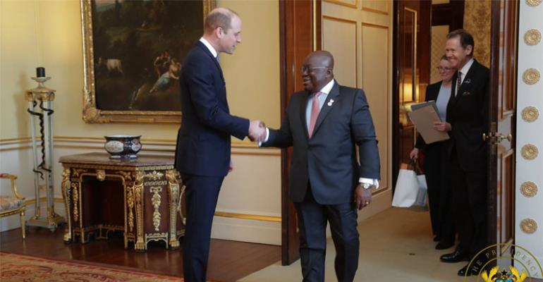President Akufo-Addo (R) with Prince Williams