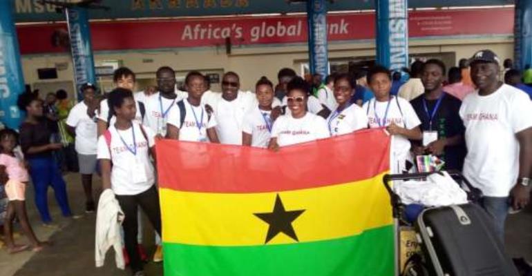 Team Ghana returns from African Junior Swimming Championship
