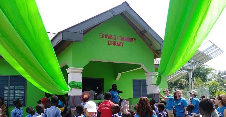 Reading Spots Ghana Provides Solar Powered Library To Ekawso