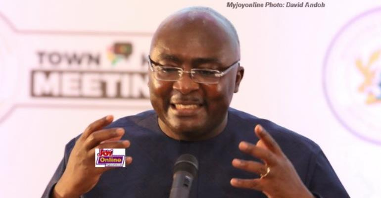 Vice President Bawumia addressed the nation at the Economic Management Team town hall meeting at the College of Physicians and Surgeons on Thursday.