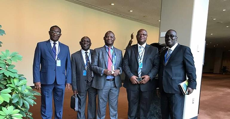 Picture shows Prof Bruce Baneong -Yakubu aand other members of the delegation.