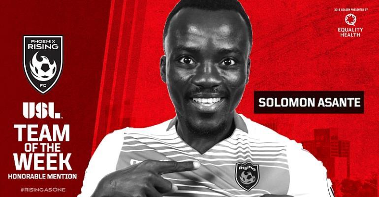 Phoenix Rising Midfielder Soloman Asante Named In USL Team Of The Week