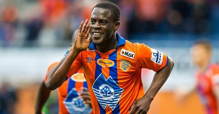 Edwin Gyasi grabs win for Aalesund against Viking in Norwegian top-flight