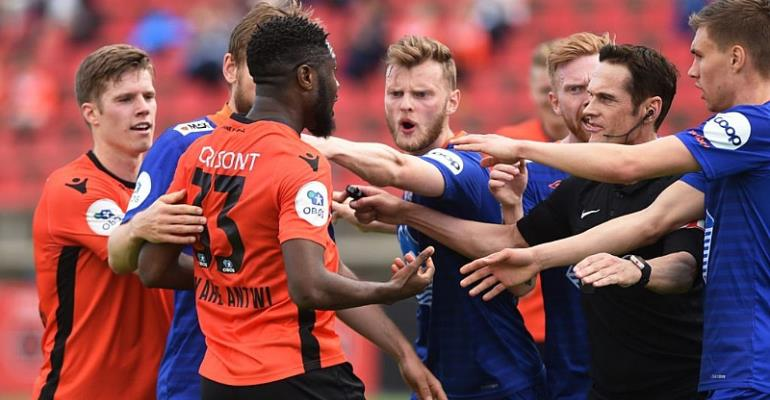Ghana Midfielder Antwi's Showy Goal Angers Opponents In Norway Top-Flight