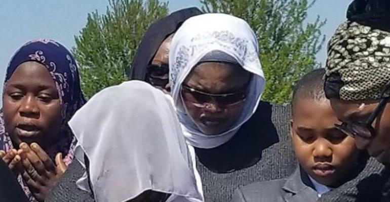Photos of how Late Actress, Aishat Abimbola was buried in Canada