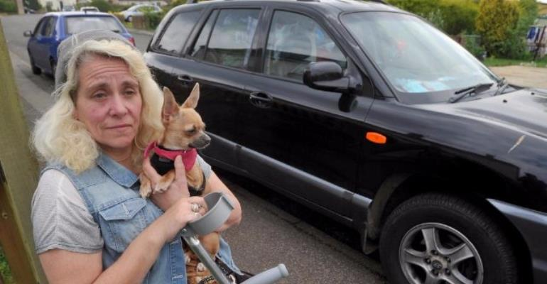 Ex-nurse forced to live in her car and eat dog food