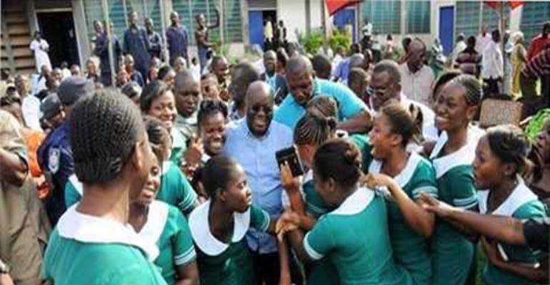 FLASHBACK:President Akufo-Addo with some nurses